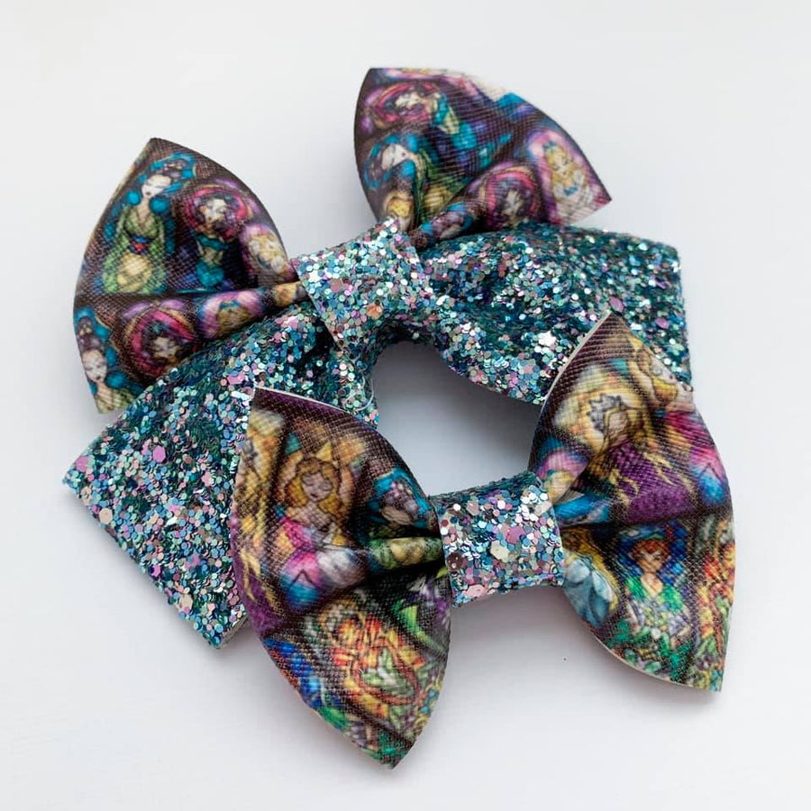 Stained Glass Glitter Bow