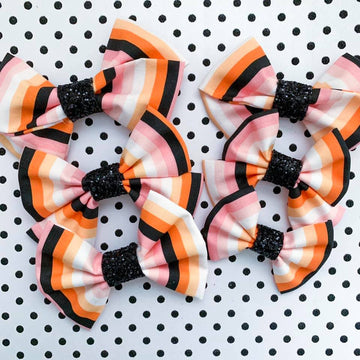 Spooky Stripe Bow