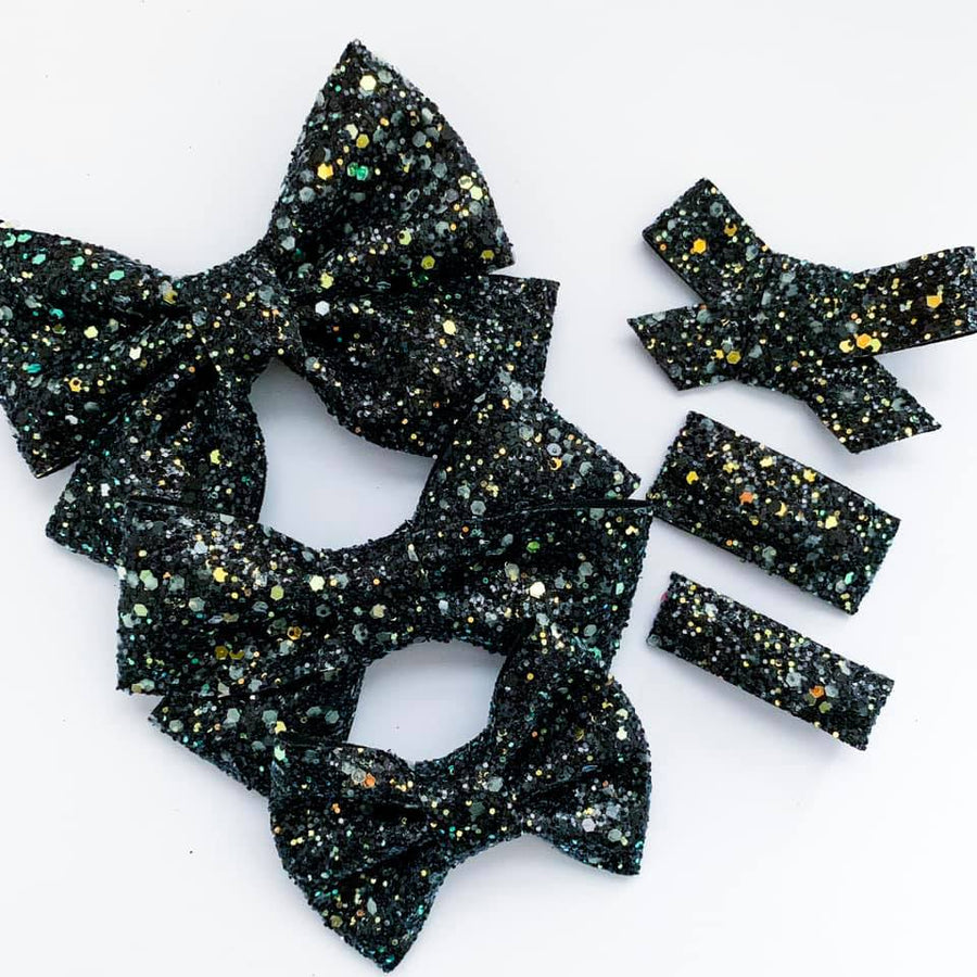 GLOW IN THE DARK Starry Night Bow