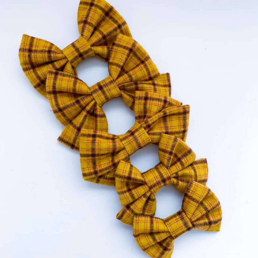 Vintage Clueless Plaid Bow