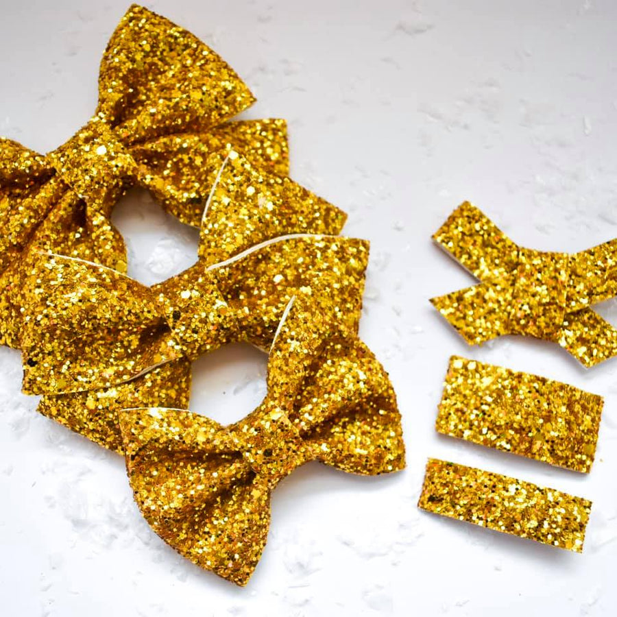 You're Gold Baby Glitter Bow