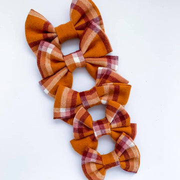 Cider Donut Flannel Bow