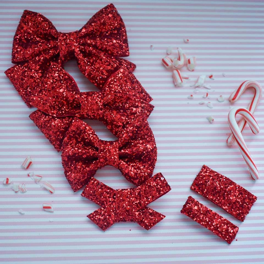 Ruby Kisses Glitter Bow