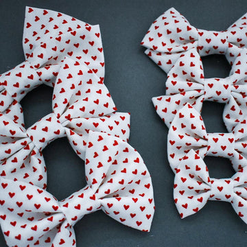 Simply Sweet Heart Bow White