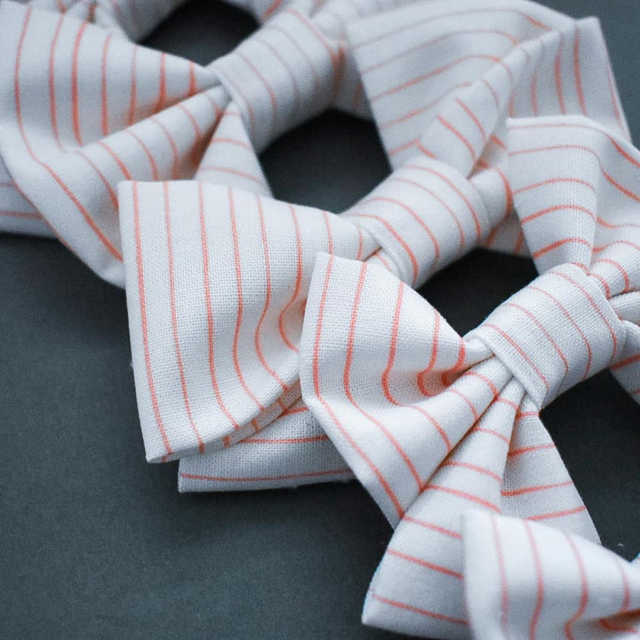 Pink Pinstripe Bow