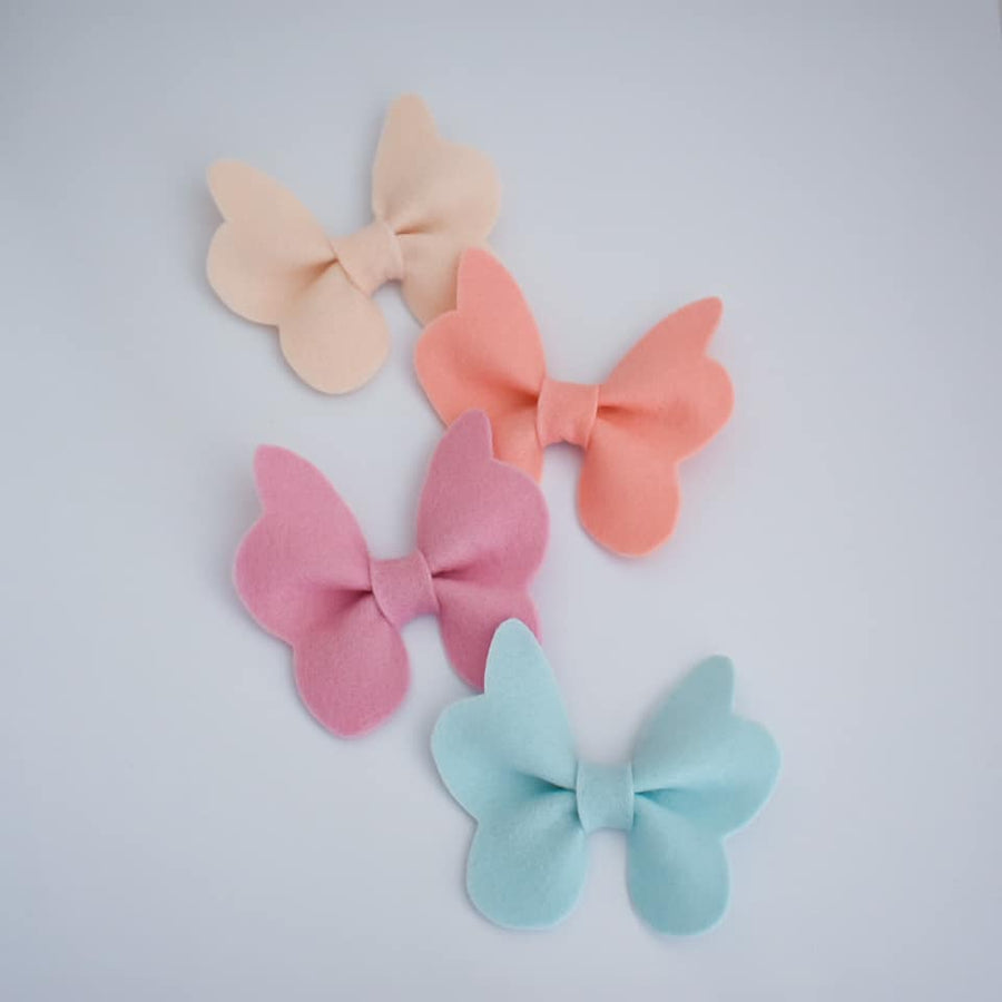 Felt Butterfly Wings Bow