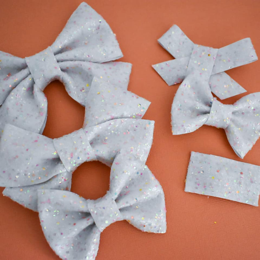 Ice Cream Cone Glitter Bow