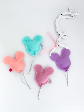 Mickey Balloon Clips + Necklaces