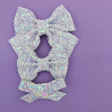 Lavender Fields Glitter Bow