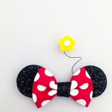 Ditzy Mouse Ears Bow