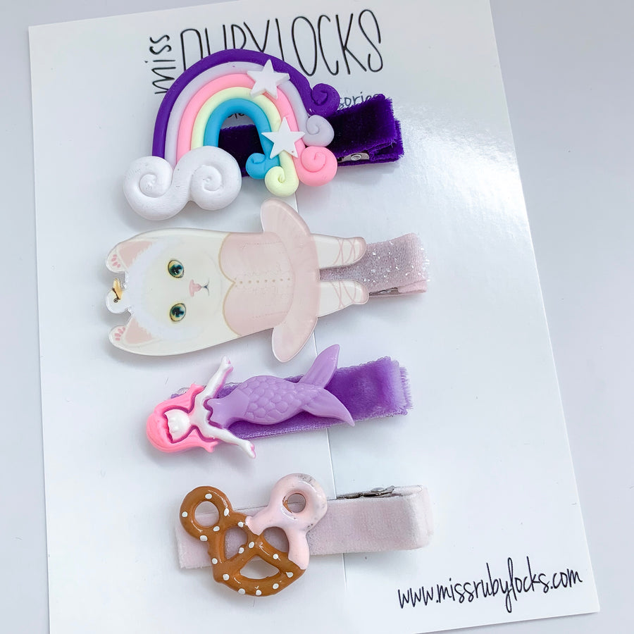 Purple Dream Bitsy Clip Set