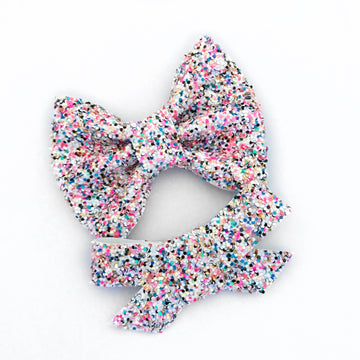 Frosted With Sprinkles Glitter Bryn or Beverly Bow