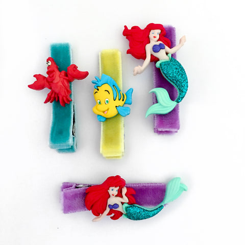 The Little Mermaid Bitsy Clips