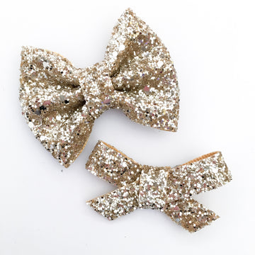 Sugar Cone Glitter Bryn or Beverly Bow