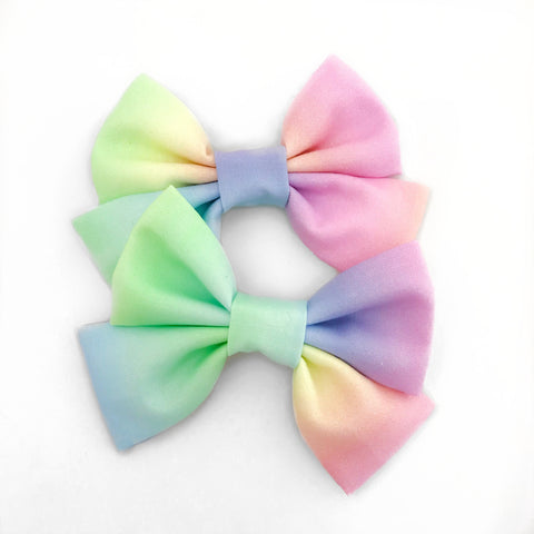 |ALSO AVAILABLE IN MTO| Pastel Ombré Rainbow Bow