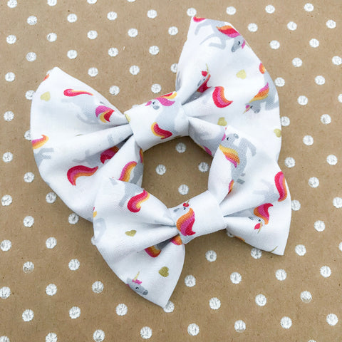 White Unicorn Bow