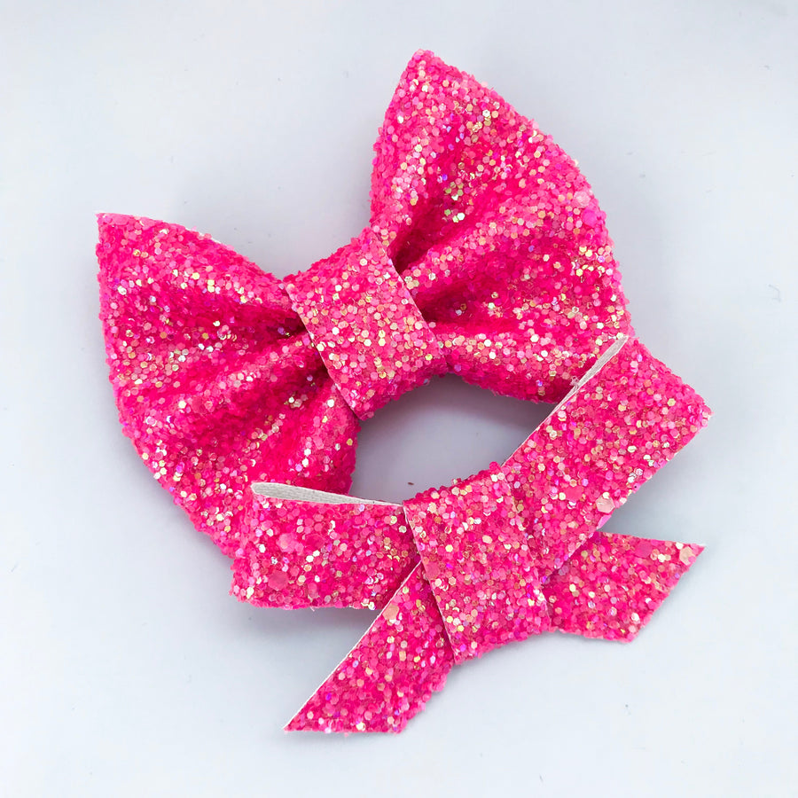 Watermelon Iridescent Bow