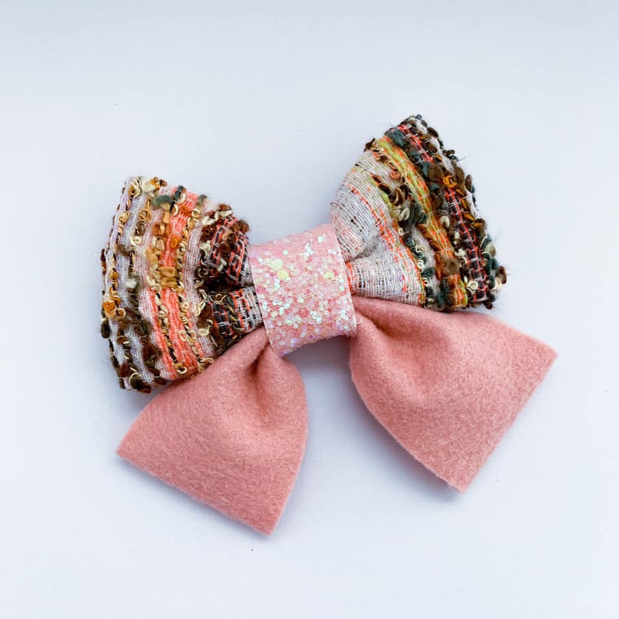 Textured Peach Bow