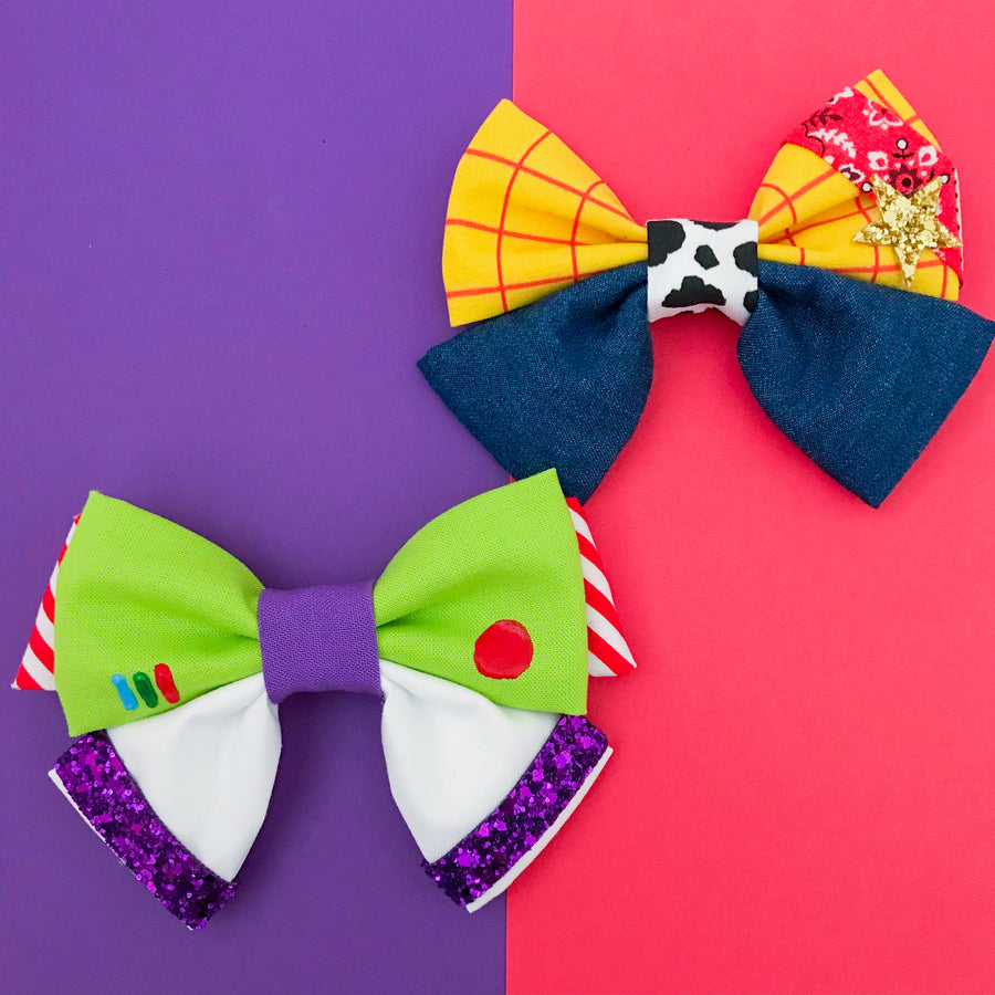 Woody and Buzz Bows
