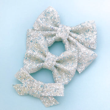 Elsa's Ice Castle Glitter Bow