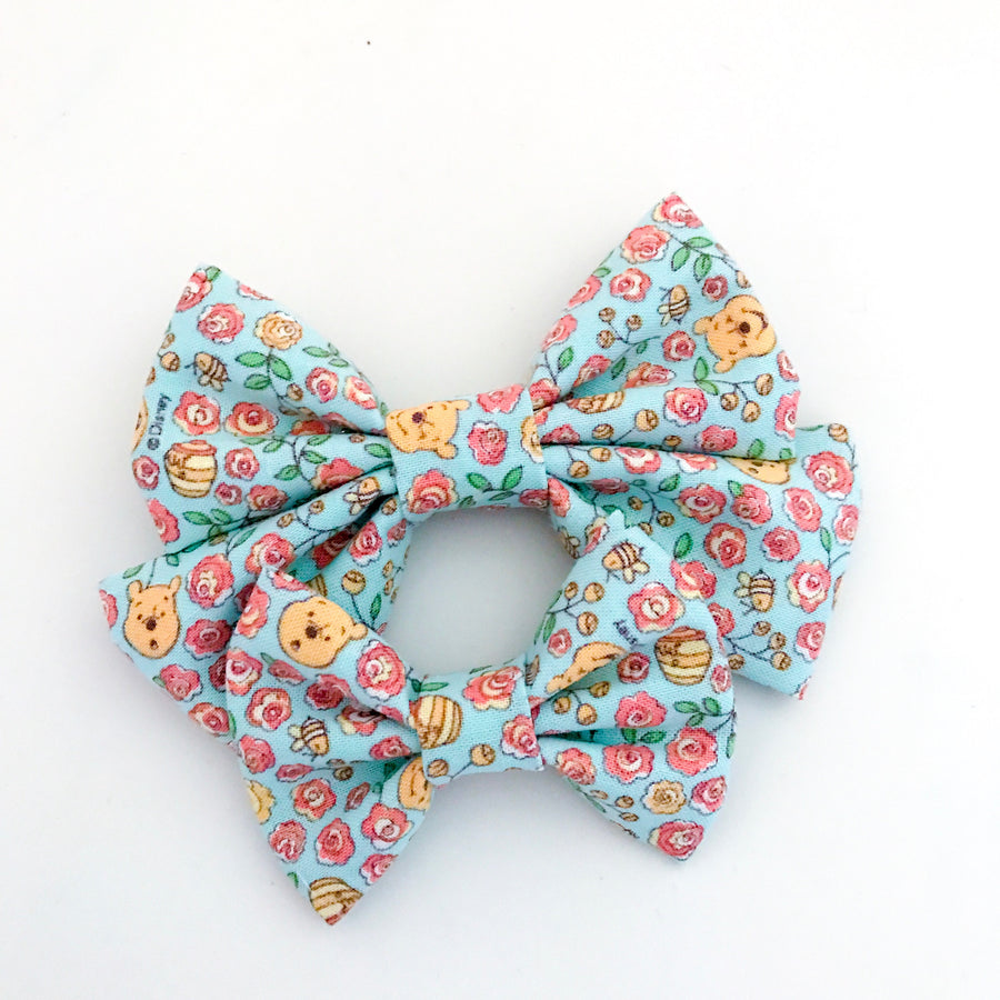 Floral Pooh Bow