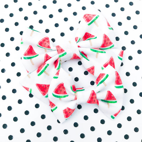 Watermelon Ice Pop Bow