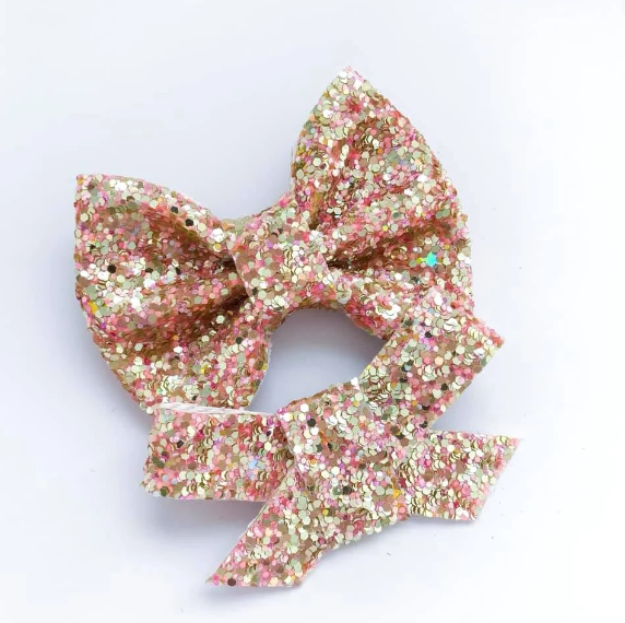 Sunkissed Glitter Bow