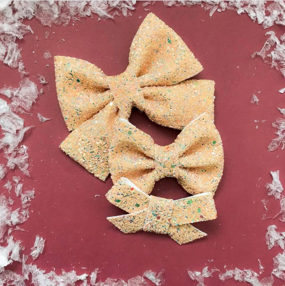 Honey Glitter Bow