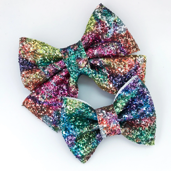 Geode Glitter Bow (colors vary)