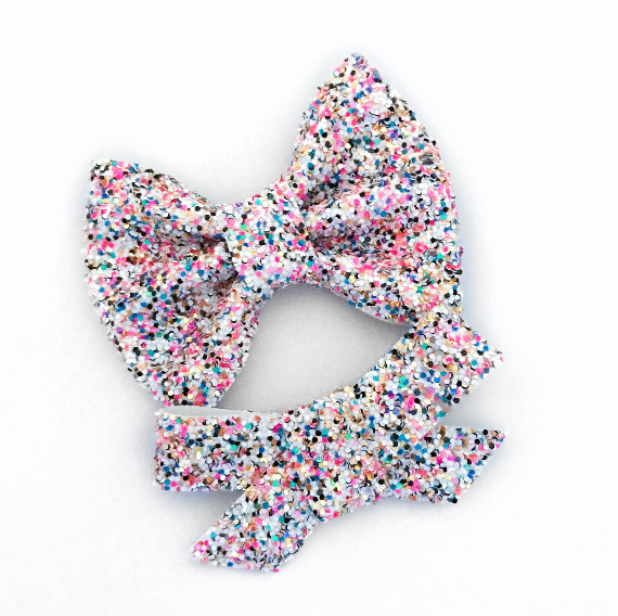 Frosted With Sprinkles Glitter Bow