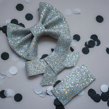Disco Ball Glitter Bow