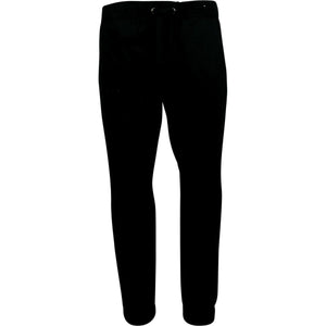 Galaxy By Harvic - Men's Solid Twill Joggers - Black - V.I.M. - 1