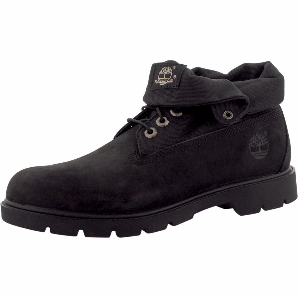 Timberland - Men's Basic Roll Top Boot - Black Nubuck - V.I.M. - 1