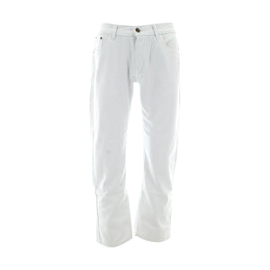 Ankor East - Men's Back Pocket Embroidery With Wash Jeans - White - V.I.M. - 1