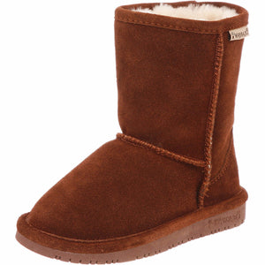 Bearpaw - Girls' Emma 6.5 Inch Suede Boots (Little Kid/Big Kid) - Hickory - V.I.M.