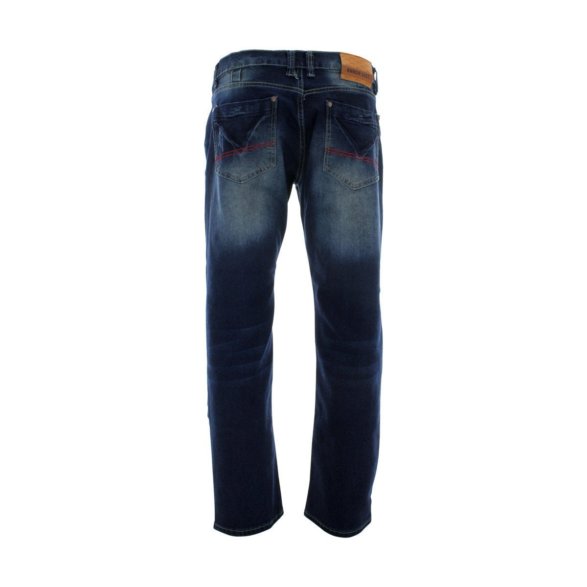 Ankor East - Men's Blasting With Back Pocket Jeans - Dark Blue - V.I.M. - 2