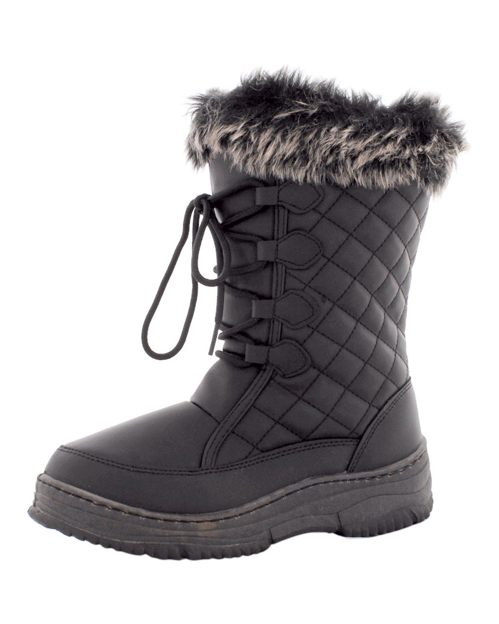 Anna Almeida - Women's Quilted Snow Boot- Black - V.I.M. - 2