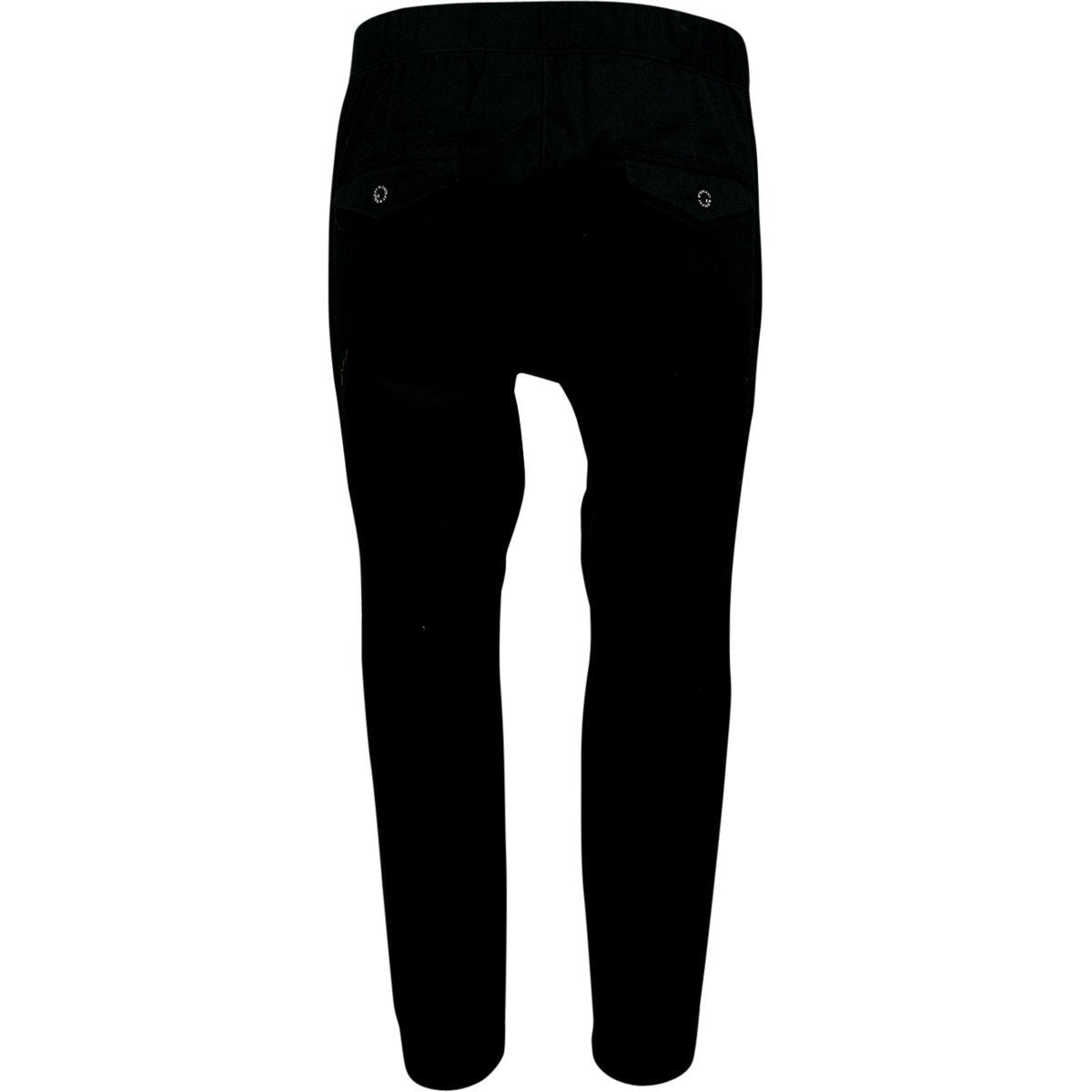 Galaxy By Harvic - Men's Solid Twill Joggers - Black - V.I.M. - 2