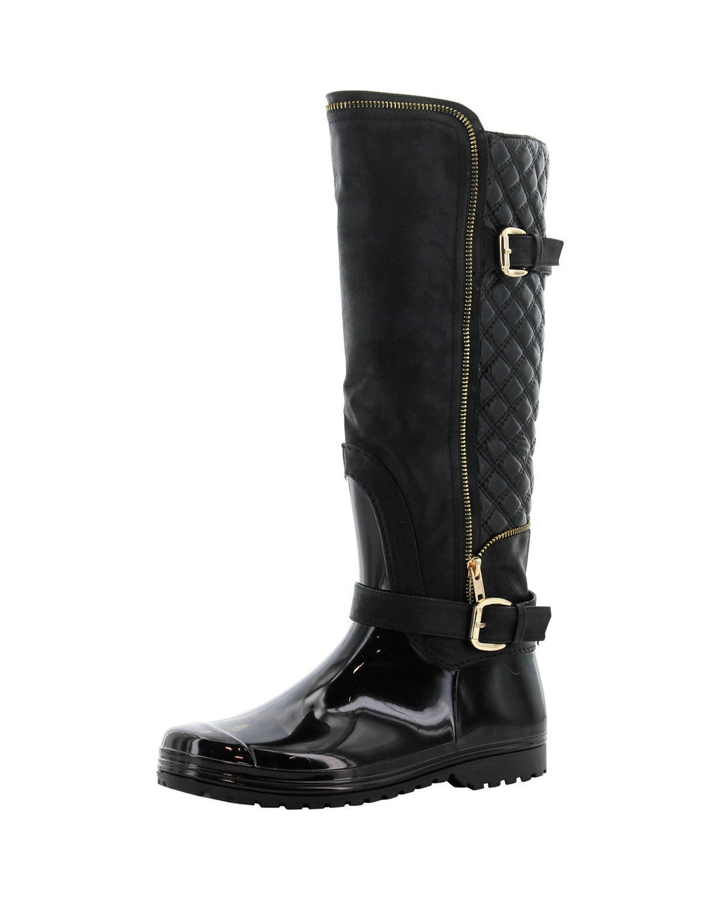 Henry Ferrera - Women's Fashion Quilted Rain Boots - Black - V.I.M. - 2
