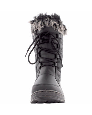 Anna Almeida - Women's Quilted Snow Boot- Black - V.I.M. - 3