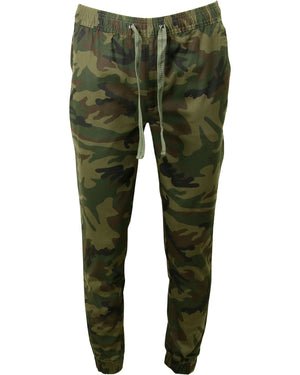 Galaxy By Harvic - Men's Solid Twill Joggers - V.I.M. - 1