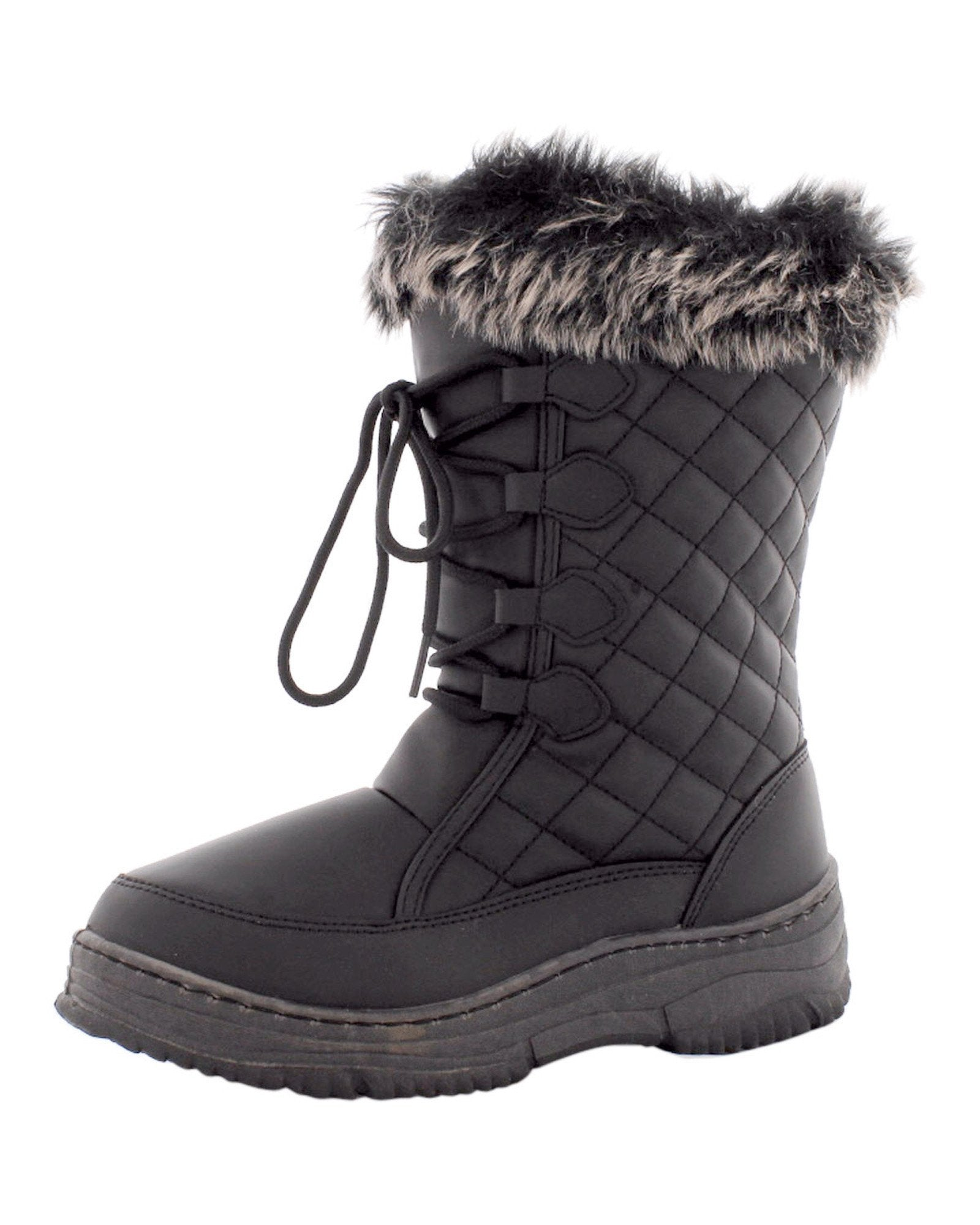 Anna Almeida - Women's Quilted Snow Boot- Black - V.I.M. - 5