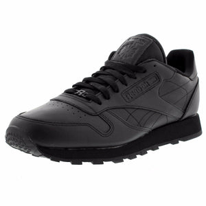 Reebok - Men's Classic Leather Low Sneaker - Black Mono - V.I.M. - 1