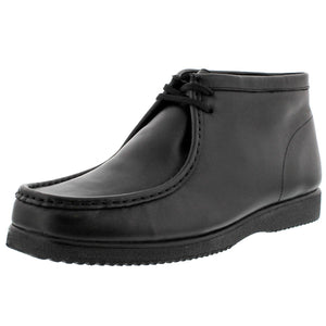 Hush Puppies - Men's Bridgeport Wallabee Boot - Black Leather - V.I.M. - 1