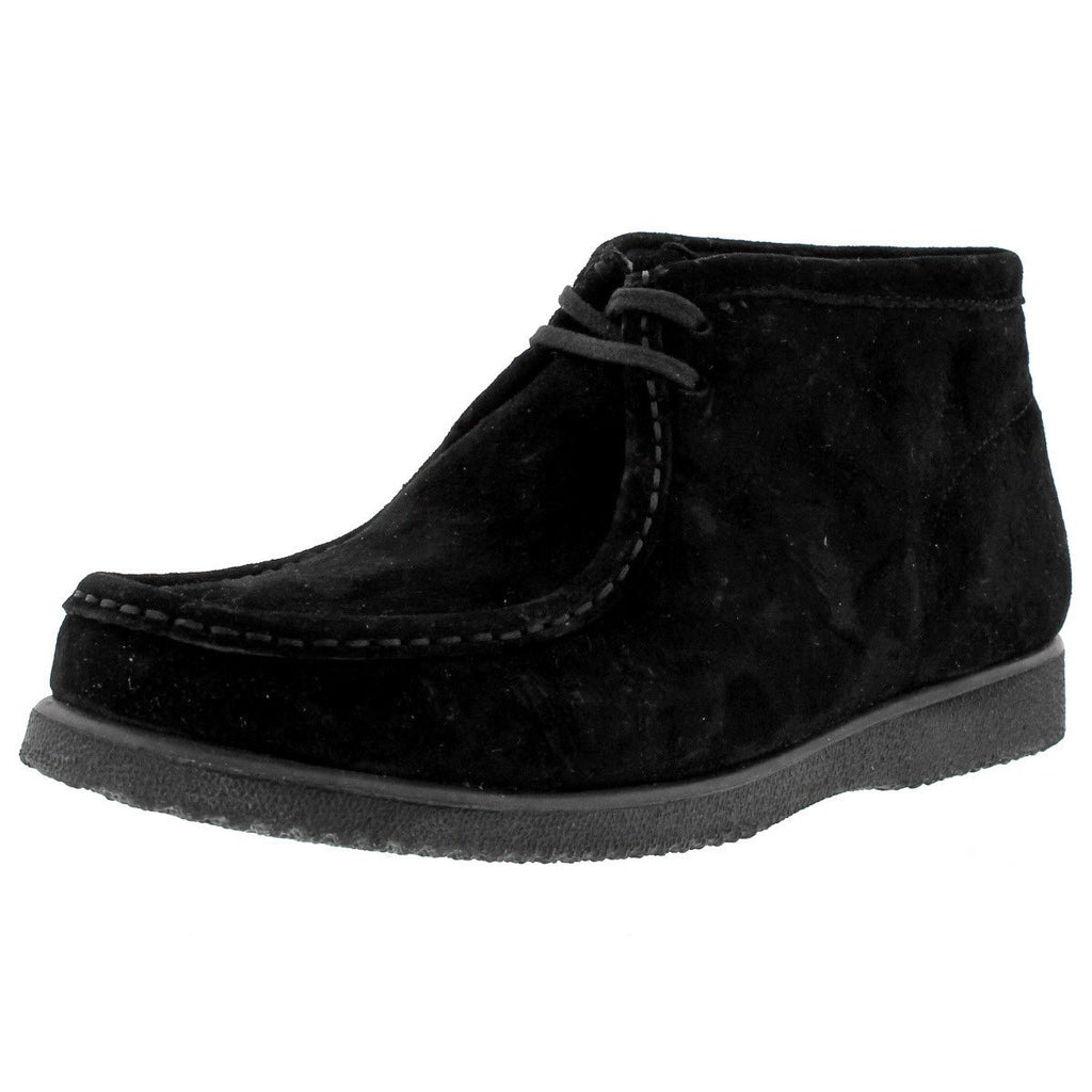 Hush Puppies - Men's Bridgeport Wallabee Boot - Black Suede - V.I.M.