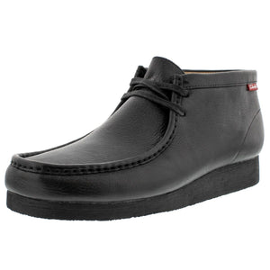 Clarks - Men's Stinson Hi Wallabee Boot - Black Oily Leather - V.I.M. - 1