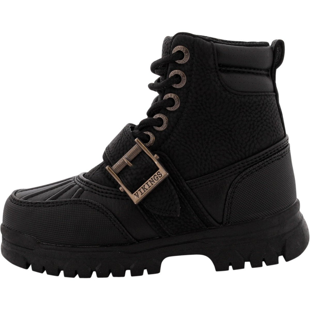 Viking - Boys' Iriving Lace Up Buckle Hiking Boot (Little Boy) - Black - V.I.M. - 2