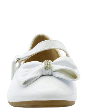 Girl's Ballet Bow On Vamp Flats (PreSchool/Grade School)
