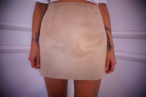 Cali suede mini skirt