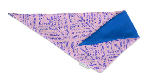 Dog Bandana - Love Story Lilac
